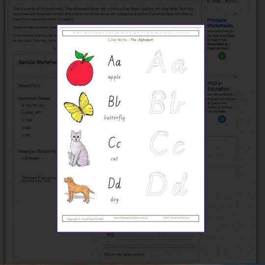 Kidzcopy - Educational Worksheets