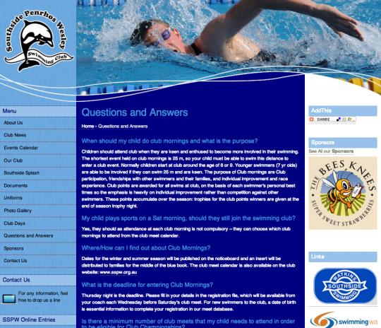 Southside Penrhos Wesley Swim Club
